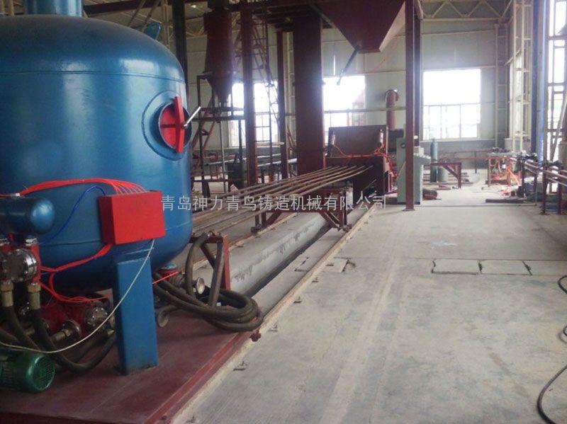 细长钢管内外壁喷砂机厂家,喷砂机价格。
