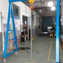 东莞小型龙门架,中山手推式模具吊架,车间重物起吊架