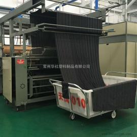 天津华社K1100L塑料方箱推布车布草车食品级厂家直销