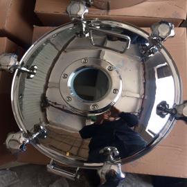 温州生产不锈钢圆形带视镜耐压人孔 发酵罐专用耐压法兰人孔盖
