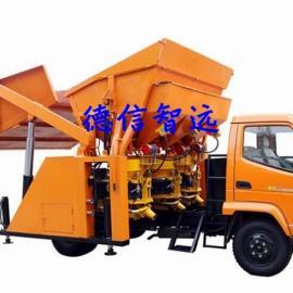四驱喷浆车选购厂家/自动投料喷浆车