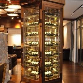 定做佛山镜面香槟金不锈钢酒柜