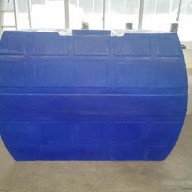 【新品】榆林5方氯酸钠原液卧式储存罐5吨运输塑胶水罐配阀门