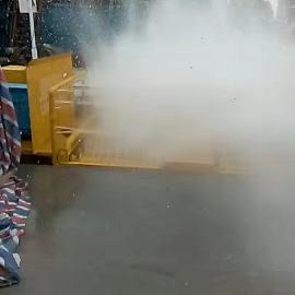 湖北襄阳工地车辆滚轴自动洗轮机洗车机清洗台