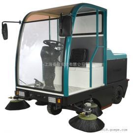 全封闭式电动驾驶式扫地车大面积灰尘专用电动清扫车