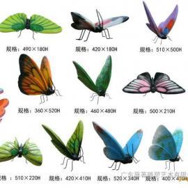 东莞玻璃钢仿真雕塑厂家制作玻璃钢仿真昆虫雕塑 蝴蝶雕塑批发