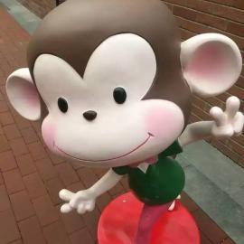 厂家直销玻璃钢雕塑皮皮猴 定做大型卡通工艺品猴子系列造型