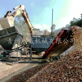 滚筒洗石机-苏州中铁混凝土搅拌站石子清洗设备-洗矿机