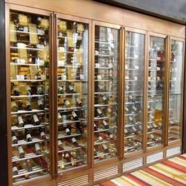 定做佛山镜面简约香槟金不锈钢酒柜