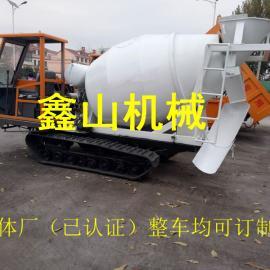 工程履带混凝土运输车 履带底盘搅拌罐车 履带运输自卸车