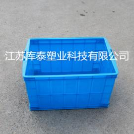塑料箱批发 塑料周转箱全新料带盖塑料箱 五金工具箱
