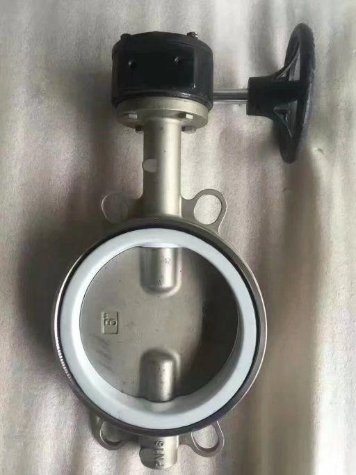 软密封蝶阀D371F-10P 不锈钢对夹蝶阀
