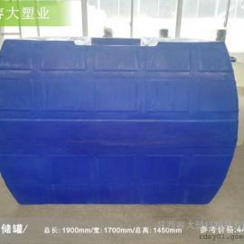 5方甲酸储罐5吨卧式运输水箱西安塑料大桶生产厂家