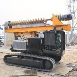 光伏电太阳能打桩机 履带式行走长螺旋打桩机 旋挖钻机