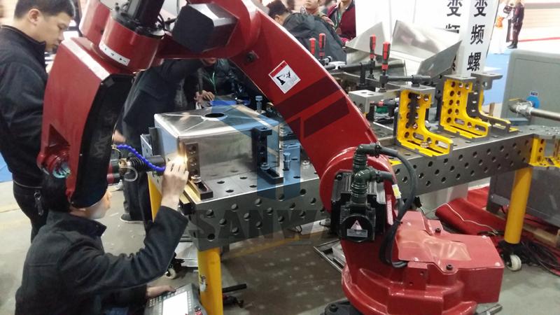 激光焊接柔性工装夹具,激光焊接平台,柔性工装夹具,八角台