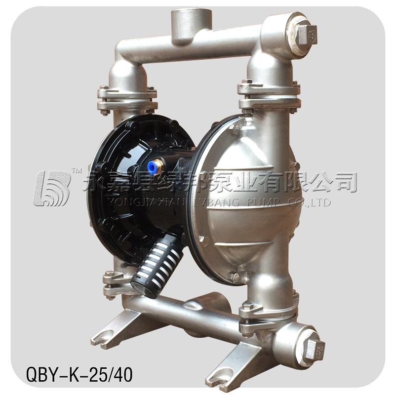 QBY不锈钢气动隔膜泵 耐腐蚀