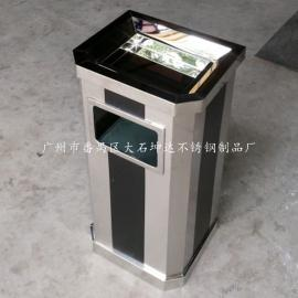 经典畅销款不锈钢斜角烟灰桶 走廊过道带烟灰缸垃圾桶