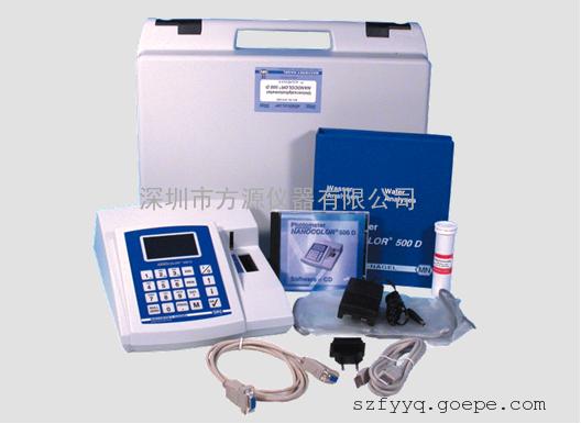 原装进口工业废水饮用水游泳水等多功能水质分析仪500D