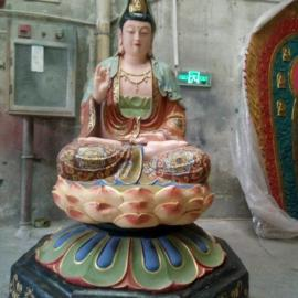 广东佛像厂家定制玻璃钢彩绘观世音菩萨雕像 宗教寺庙用品摆件