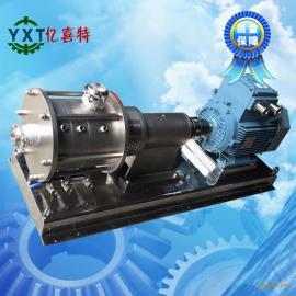 三级管线式高剪切分散均质乳化机不锈钢卫生级移动乳化机乳化泵