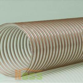 PU聚氨酯管 镀铜钢丝透明软管 镀铜钢丝木工吸尘软管