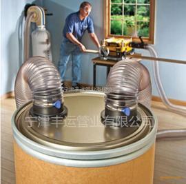 优质PU伸缩管PU钢丝软管工业抽尘通风管