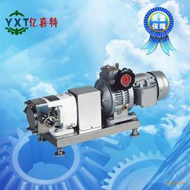 不锈钢齿轮定速凸轮转子泵果酱物料输送泵