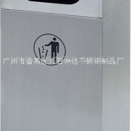 不锈钢单桶户外带烟灰缸垃圾桶 商场走廊过道果皮箱 批发