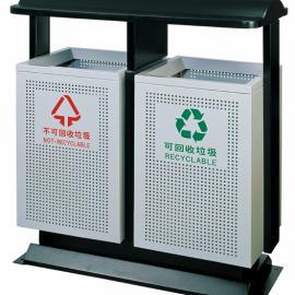 【公园/小区/街道】户外烤漆冲孔分类环保垃圾桶 果皮箱