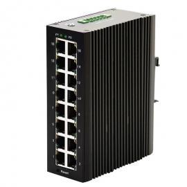 千兆16口工业级以太网交换机DIN导轨式宽温�\40 ℃ ~ +85℃