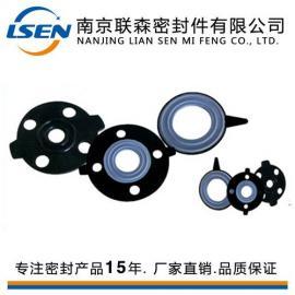 供应橡胶法兰垫 橡胶复合垫片 EPDM+PTFE复合垫片