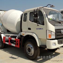 福田5-6方混凝土罐车,混凝土搅拌运输车