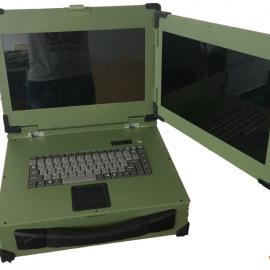 工业便携机双屏式上翻军工电脑工控一体机视频采集