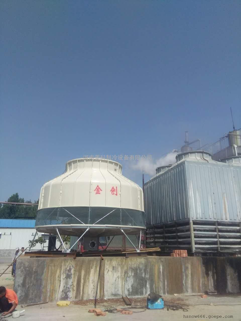 供应优质金创JC系列玻璃钢逆流式圆型冷却塔生产厂家