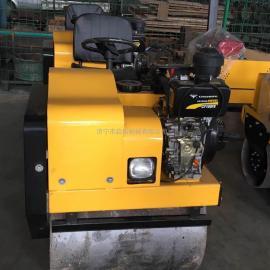 启拓70cm小型座驾式压路机 自行式双钢轮压路机生产厂家直销价