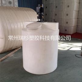 常州化工平底加药箱、1吨搅拌桶