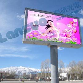 户外立柱LED显示屏P6全彩广告屏价格