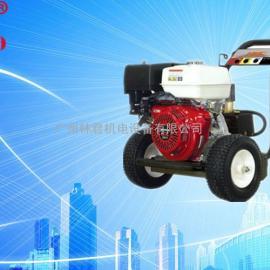 下水管道疏通用汽油高压清洗机无需电源操作