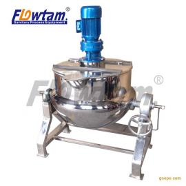 厂家直销不锈钢卫生级夹层锅 半球形可倾斜夹层锅 熬汤锅
