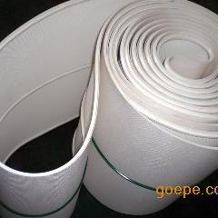 白色pvc输送带,白色平面皮带,PVC环形传送带