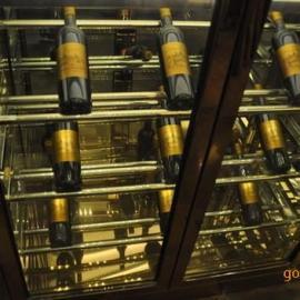 定做佛山镜面钛金不锈钢酒柜