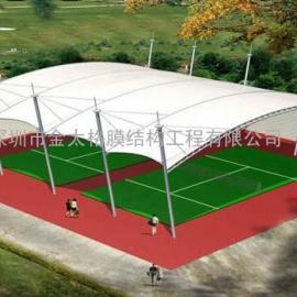 网球场膜结构,篮球馆膜结构,门球场膜结构