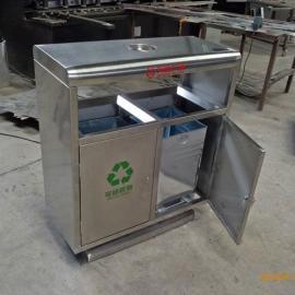 环畅hc2207户外钢板垃圾桶 不锈钢分类垃圾桶小区垃圾箱