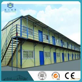供应标准双坡双层活动板房报价