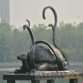 东莞雕塑厂家供应铸铜玄武雕塑四大神兽雕塑制作家居风水摆件