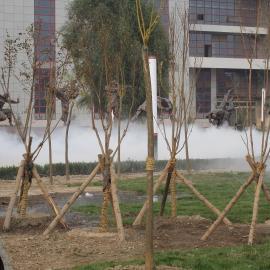 亿汶机电制造安装景观假山喷雾喷泉效果设备!