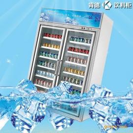 展示柜冷藏立式冰柜商用冰箱饮料保鲜柜双门冷柜陈列柜阴凉柜