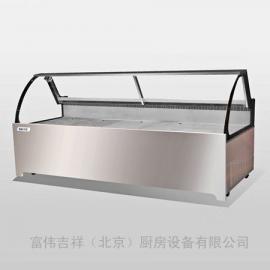 凯雪KX-2.5YB鸭脖展示柜 超市冷藏展示柜