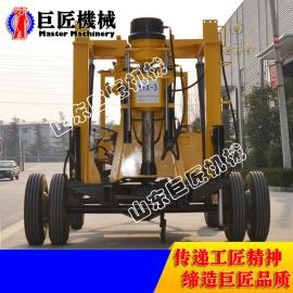 买了山东巨匠XYX-3轮式钻井机 民用打水井更方便高效