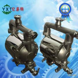 卫生级不锈钢耐腐蚀气动隔膜泵果酱液态半固体物料输送泵
